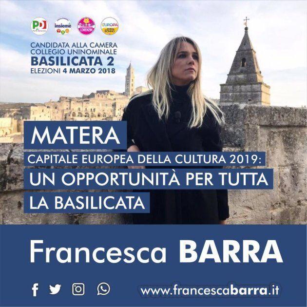 L'errore grammaticale nel manifesto elettorale di Francesca Barra.