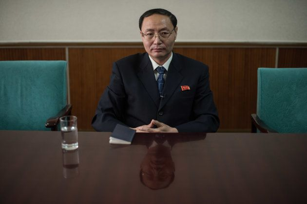 Kim Yong-Chol, of the North's Committee for the Peaceful Unification of Korea, speaks to AFP during an...