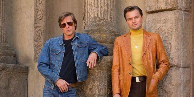 Brad Pitt e Leonardo DiCaprio insieme sul set del film di Quentin Tarantino. È la prima volta che recitano