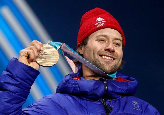 Medals Ceremony - Snowboarding - Pyeongchang 2018 Winter Olympics - Men's Big Air - Medals Plaza - Pyeongchang,...