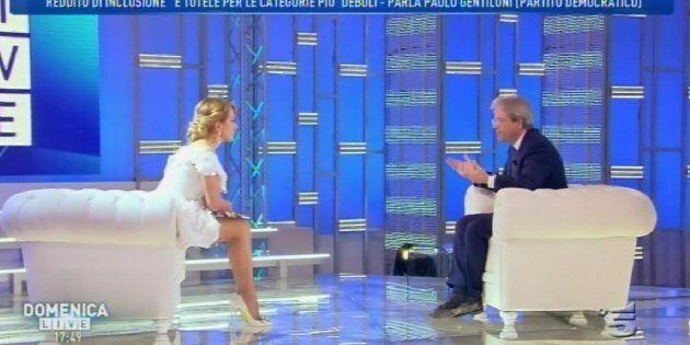 Il presidente del Consiglio, Paolo Gentiloni, ospite della trasmissione condotta da Barbara D'Urso 'Domenica...