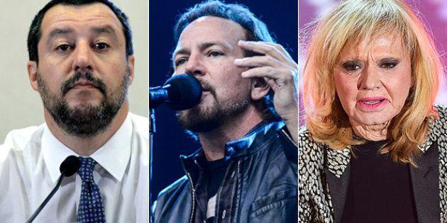 Matteo Salvini contro i Pearl Jam: