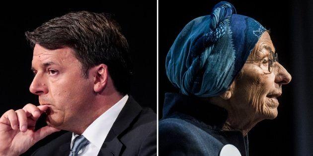 Matteo Renzi ed Emma Bonino: derby anche in