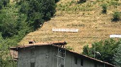 Sulla collina di Pontida spunta una scritta polemica: