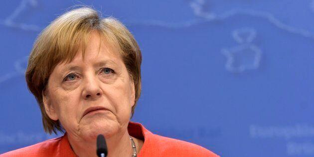 Brrussels 29.06.18- Sommet europ�n, Arriv�s- Europese top , Aankomst* Angela MerkelPhilip Reynaers...