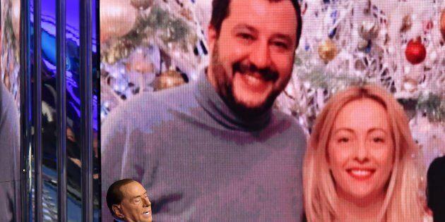 Italian former Prime Minister and leader of center-right party Forza Italia (Go Italy), Silvio Berlusconi...