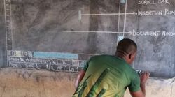 La storia dietro la foto virale di un prof. in Ghana che