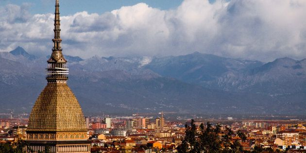 View of Torino with the Mole Antonelliana and the