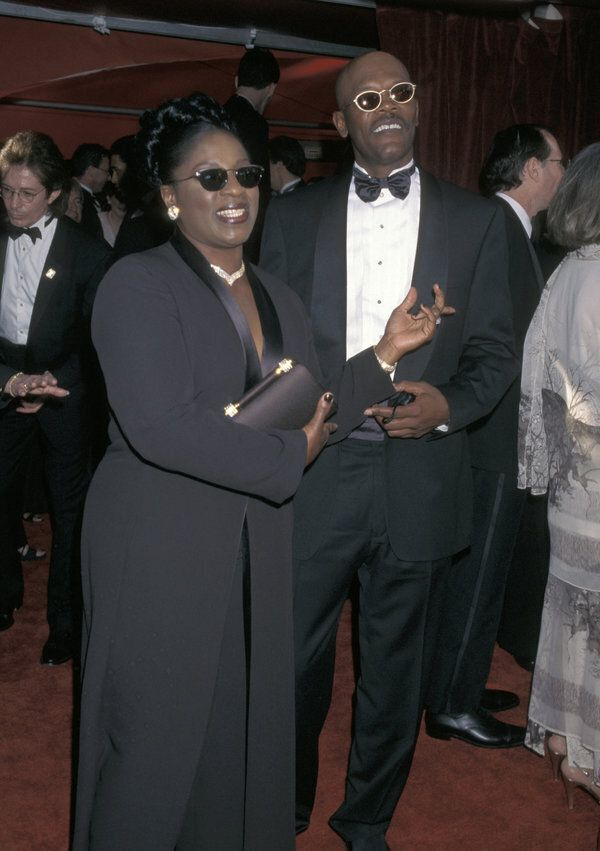 Samuel L. Jackson and LaTanya Richardson during The 70th Annual Academy Awards - Red Carpet at Shrine...