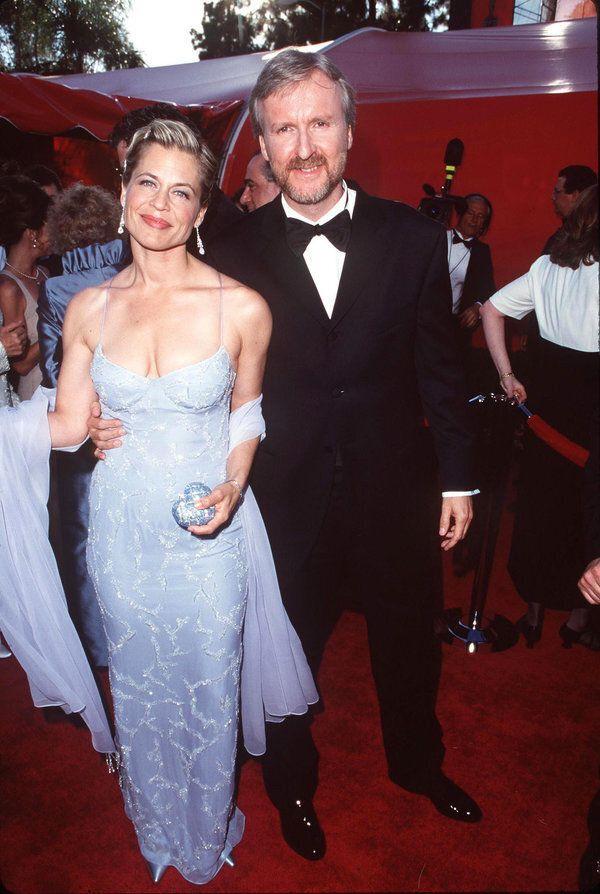 James Cameron and Linda Hamilton (Photo by Steve