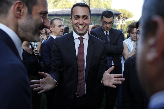 Luigi Di Maio, ministro del Lavoro e delle Politiche Sociali, durante il ricevimento a Villa Taverna...