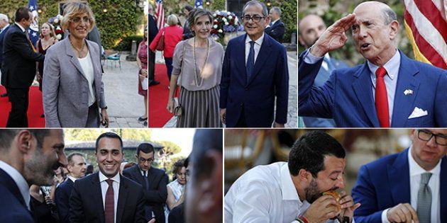 Stelle e strisce gialloverdi. Parata di ministri (e non solo) alla festa dell'ambasciatore