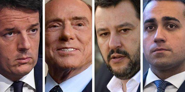 Nessuno ha la maggioranza. Boom 5 Stelle: primo partito al 33%. Salvini supera Berlusconi, crollo Pd...