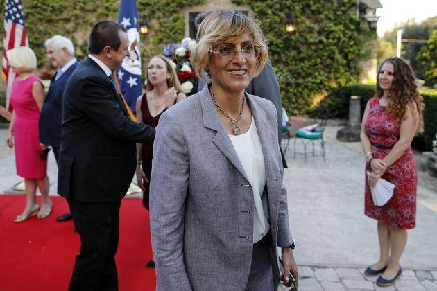 Giulia Bongiorno, ministro della Pubblica Amministrazione, durante il ricevimento a Villa Taverna per...