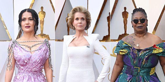 big sale 1f9df 93ee2 Oscar 2018, gli abiti delle star sul red carpet. Fiori ...