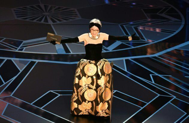 Actress Rita Moreno presents the Oscar for Best Foreign Language Film during the 90th Annual Academy...