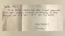 Paga una multa di 2 dollari per il parcheggio 44 anni dopo: