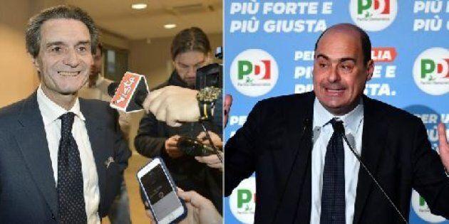 Attilio Fontana stravince in Lombardia. Nicola Zingaretti riconfermato nel