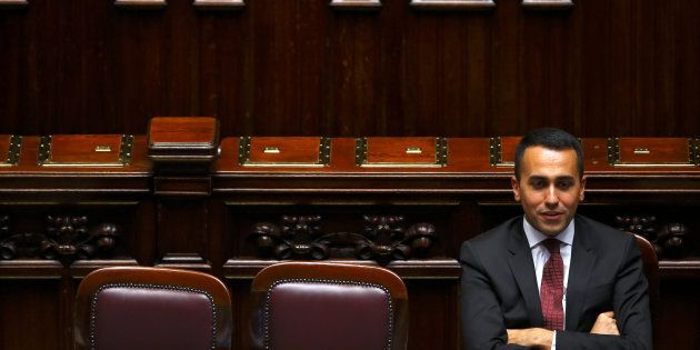 Italian Minister of Labor and Industry Luigi Di Maio attends during his first session at the Lower House...