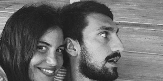 Una foto tratta dal profilo Instagram di Francesca Fioretti moglie del calciatore scomparso Davide Astori,...