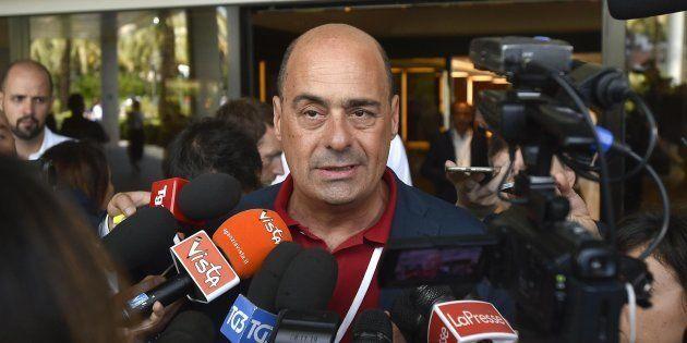 Nicola Zingaretti durante l'assemblea nazionale del Partito Democratico, Roma 07 Luglio