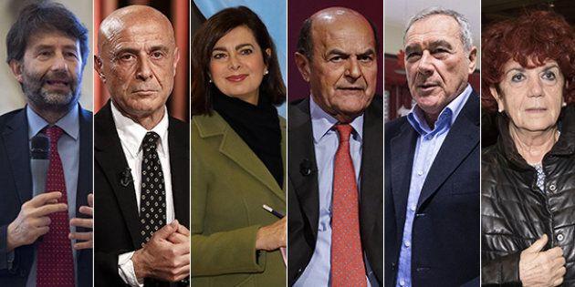 Da Marco Minniti a Laura Boldrini, da Renato Schifani a Umberto Bossi: i