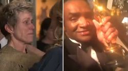 Si imbuca al party ufficiale, ruba l'Oscar di Frances McDormand e si fa il video selfie