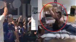 Gli inglesi hanno festeggiato la vittoria contro la Svezia devastando un negozio