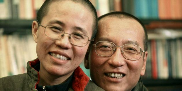Il dissidente cinese Liu Xiaobo insieme a sua moglie Liu