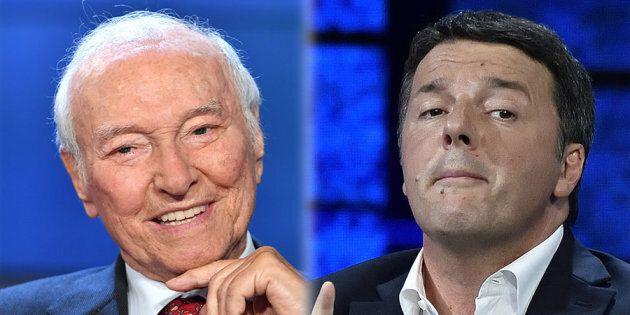 Matteo Renzi in tv con la benedizione di Piero Angela:
