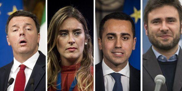 Renzi, Boschi, Di Maio, Di