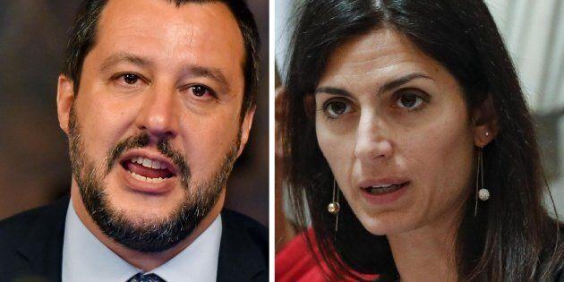 Il ministro dell'Interno, Matteo Salvini, in occasione della sottoscrizione del Protocollo d'intesa per...