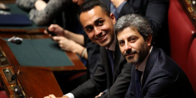 Five Stars Movement (M5S) Roberto Fico attends the first session of the Chamber of Deputies since the...