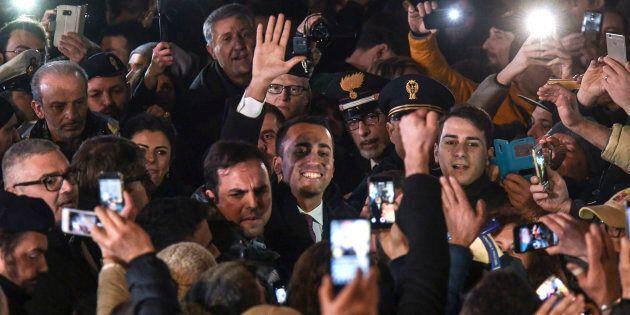 ACERRA, CAMPANIA, ITALY - 2018/03/06: Luigi Di Maio, after his election, meets the militants of the italys...