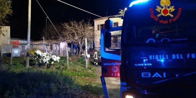 Sarnano, incendio in un'abitazione: due persone