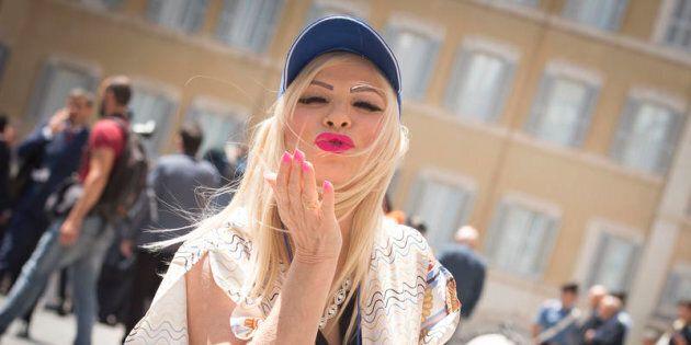 05/06/2018 Roma, Ilona Staller davanti la Camera dei