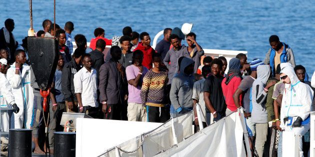 I migranti sbarcati dalla Diciotti: