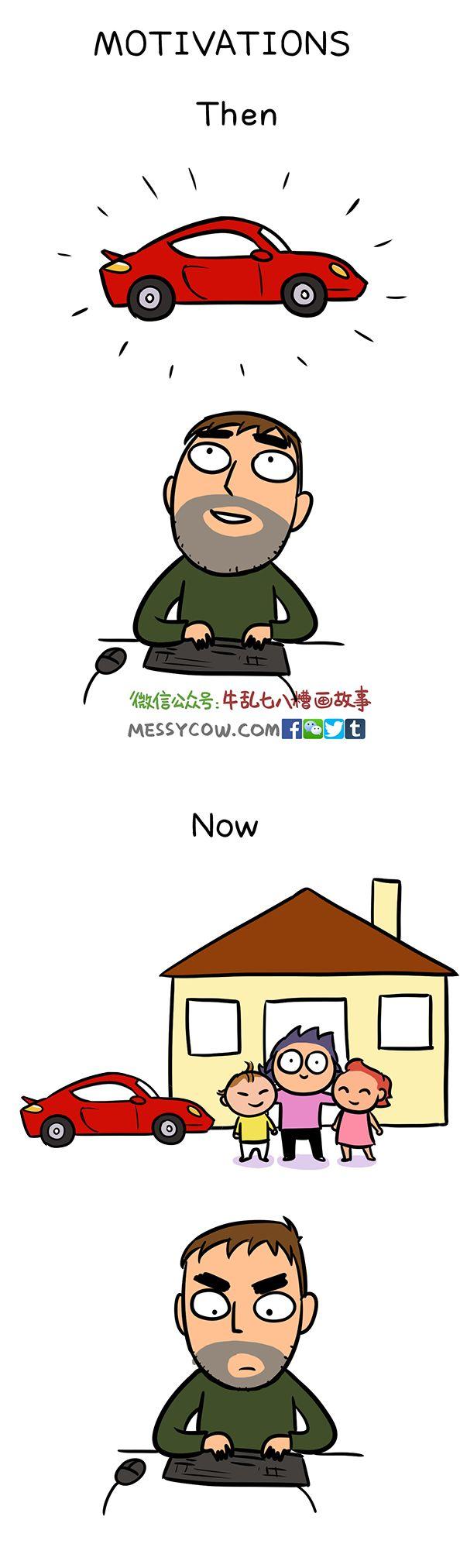 Queste spassose vignette mostrano come cambiano gli uomini quando diventano