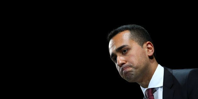 Italian Minister of Labor and Industry Luigi Di Maio attends at the Italian Business Association Confcommercio...