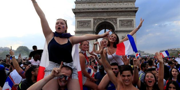 Soccer Football - World Cup - Final - France vs Croatia - Paris, France, July 15, 2018 - France fans...