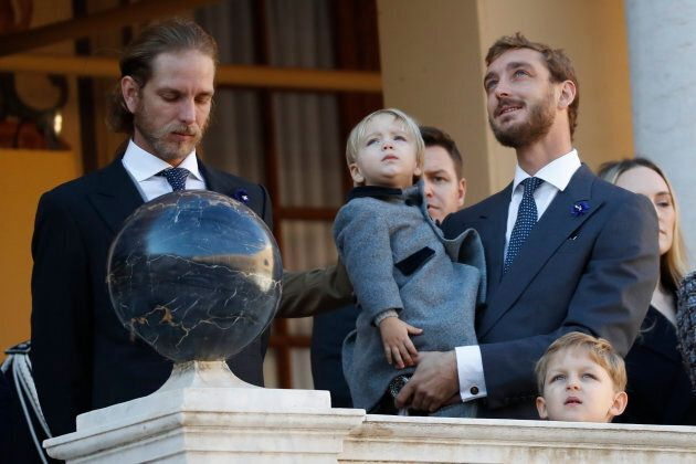 Andrea Casiraghi, Pierre Casiraghi and children take part in the celebrations marking Monaco's National...