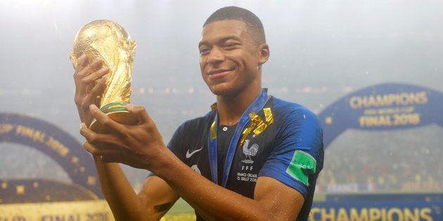 Kylian Mbappe, calciatore francese, vince il Mondiale: