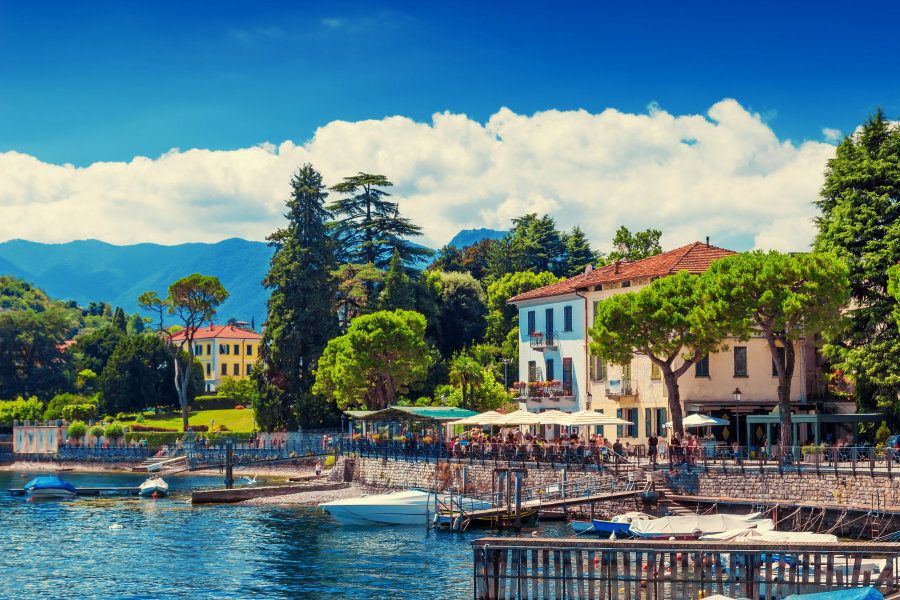 Lenno, Como lake, Italy. Beautiful summer