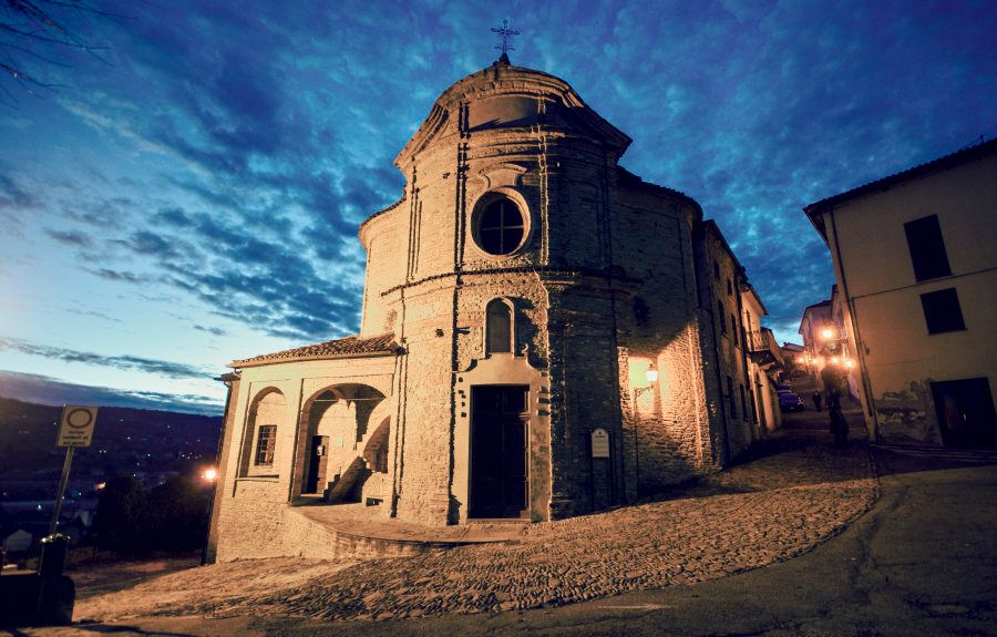 San Rocco is one of the most beautiful churches in Canelli, Piedmont