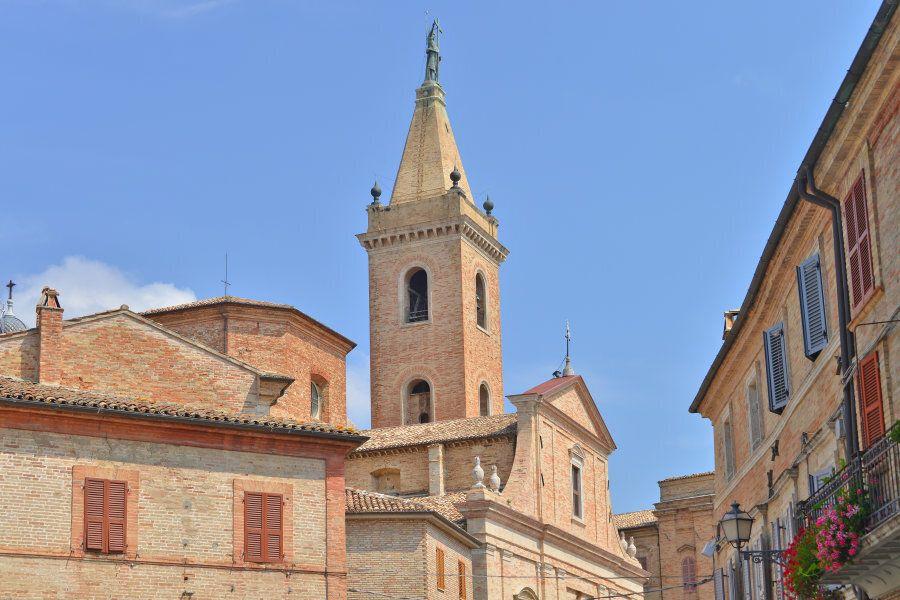 panoramic view of some corners of Ripatransone, Marche,