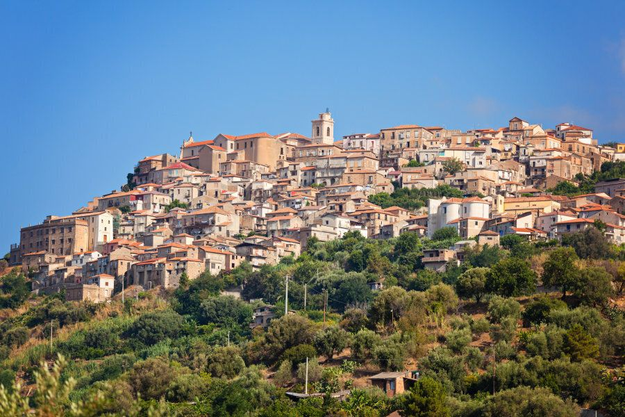 View on Nicotera town in Calabria, Southern
