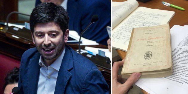 Speranza legge la Divina Commedia di Dante in Commissione per dire No al decreto