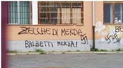 Scritte intimidatorie e svastiche contro il presidente della Sezione Anpi Marconi sui muri del liceo Montale a