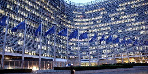 BRUSSELS, BELGIUM - (ARCHIVE) : A file photo dated January 29, 2018 shows the European Commission building...