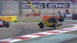 Paura in Formula 1: la macchina si cappotta al primo